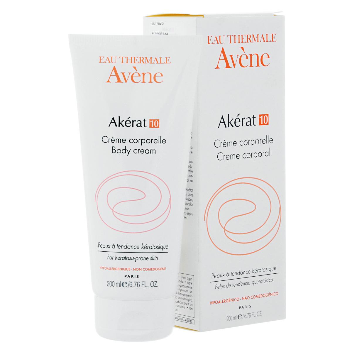 Avene Интенсивный увлажняющий крем Akerat для тела 200млC00412Смягчение и удаление шелушений, уплотнений при очень сухой коже, помогает при проявлении гиперкератоза ног - образование натоптышей и сухих мозолей, а также при псориазе.Применяется для увлажнения очень сухой, шершавой и шелушащейся коже. Только Акерат обеспечивает максимально эффективное удаление ороговевших клеток за счет 3-х активных компонентов! Молочная кислота + Мочевина + Салициловая кислота Устраняет шелушение.Усиливает способность кожи удерживать влагу.Делает гладкой и мягкие текстуру кожи Не содержит отдушек. Содержит Термальную воду Avene - успокаивает и смягчает кожу.Гипоаллергенно.