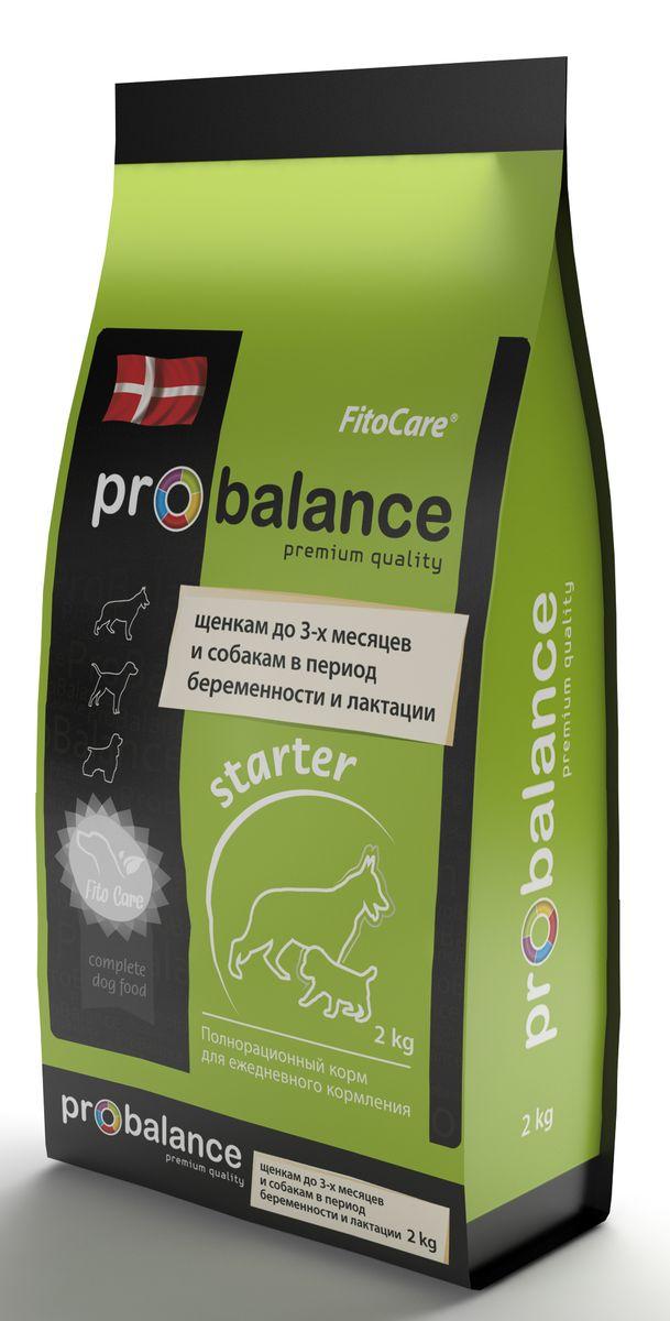 Корм сухой ProBalance Starter для щенков до 3 месяцев, беременных и кормящих собак, 2 кг0326ProBalance Starter предназначен для ежедневного кормления щенков от 1 до 3-х месяцев, а также беременных и кормящих собак. Увеличенное количество энергии, белка, витаминов и минералов обеспечивают полноценный рост и развитие организма щенка. Несколько источников клетчатки помогают пищеварению и стабилизируют стул. Глюкозамин и хондроитин, добавленные в корм, обеспечивают полноценное развитие суставов. Подобран оптимальный баланс питательных и минеральных веществ, для предотвращения возникновений заболеваний опорно-двигательного аппарата. Корма ProBalance - премиальные корма для животных, обеспечивающие полноценное сбалансированное питание с учетом возраста и индивидуальных особенностей вашего щенка. Сухие корма ProBalance не содержат пшеницы, сои и глютена, что помогает избежать нарушений пищеварения. Высокое содержание мясных компонентов, а также разнообразие компонентов в составе обеспечивают животное всеми необходимыми питательными веществами. Фито-композиция...