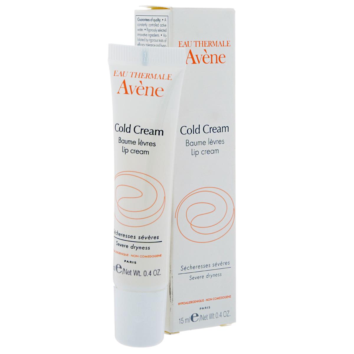 Avene Бальзам для губ Cold-cream с колд-кремом 15 гC25487Благодаря тщательно разработанному составу Бальзам Авен с колд-кремом успокаивает, смягчает и надолго защищает губы, покрывая их специальной липидной пленкой. Она прекрасно увлажняет и питает, а также идеально восстанавливает потрескавшиеся или обветренные губы.
