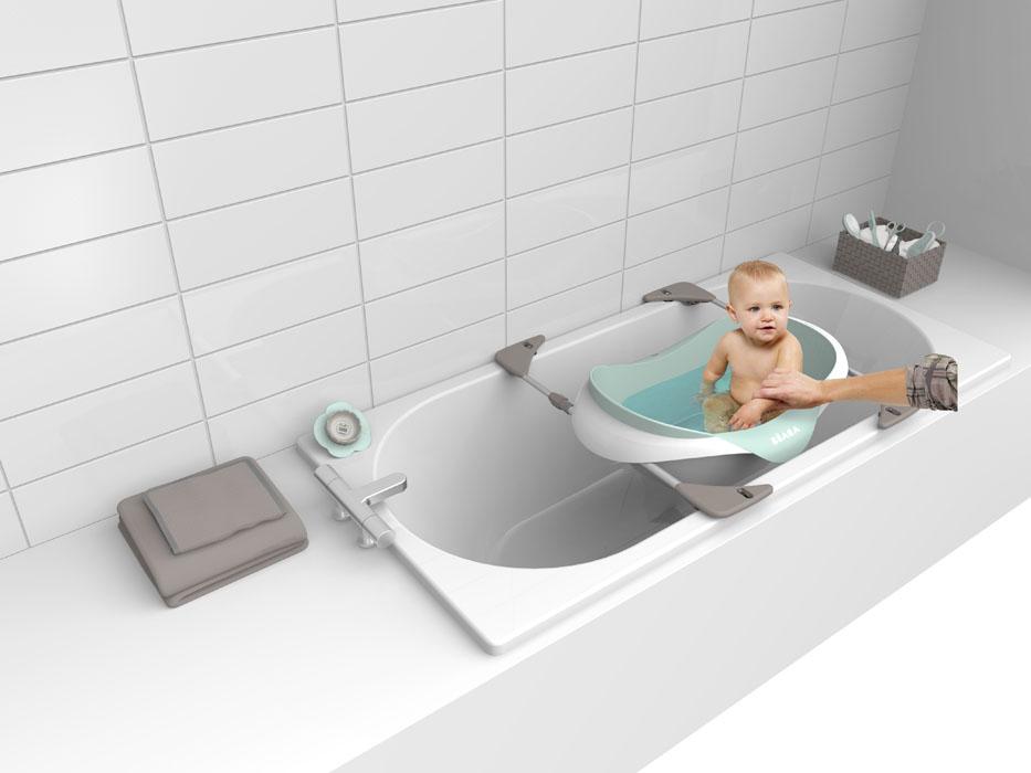 База-подставка накладная под ванночку Cameleo Beaba920267Телескопические трубки на присосках с регулируемой длиной от 57 до 75 см. Данная подставка подходит только под ванны этого бренда.
