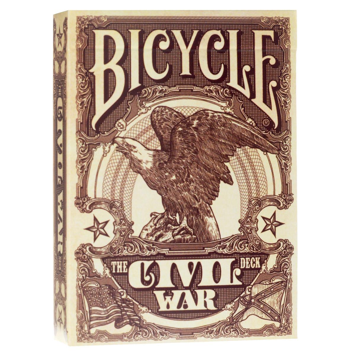 Карты игральные коллекционные Bicycle Гражданская война в Америке, цвет: бежевый, 54 карты. 91229122