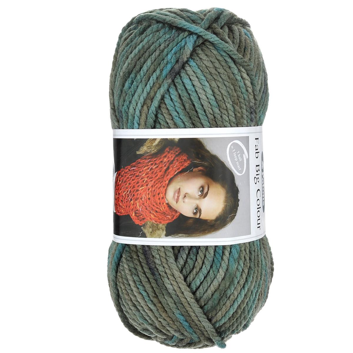 Пряжа для вязания Patons Fab Big Colour, цвет: бирюзовый, зеленый, синий (00088), 120 м, 200 г. 9806557-000889806557-00088Пряжа для вязания Patons Fab Big Colour - это очень мягкая, объемная пряжа, идеально подойдет для начинающих вязальщиц. Изготовленная из 100% акрила, пряжа создана для аксессуаров: шапок, шарфов, хомутов и детских покрывал. Одного мотка хватит, чтобы связать шарф-снуд. С такой пряжей для ручного вязания вы сможете связать своими руками необычные и красивые вещи. Рекомендованы спицы №10. Толщина нити: 4 мм. Состав: 100% акрил. Вес мотка: 200 г. Длина нити: 120 м.