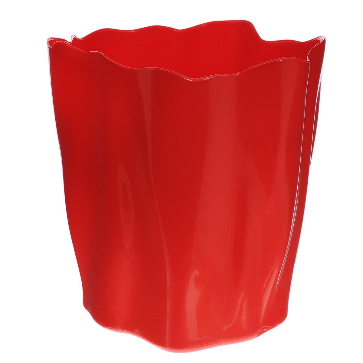 """Органайзер Qualy """"Flow"""", большой, цвет: красный, диаметр 27 см"""