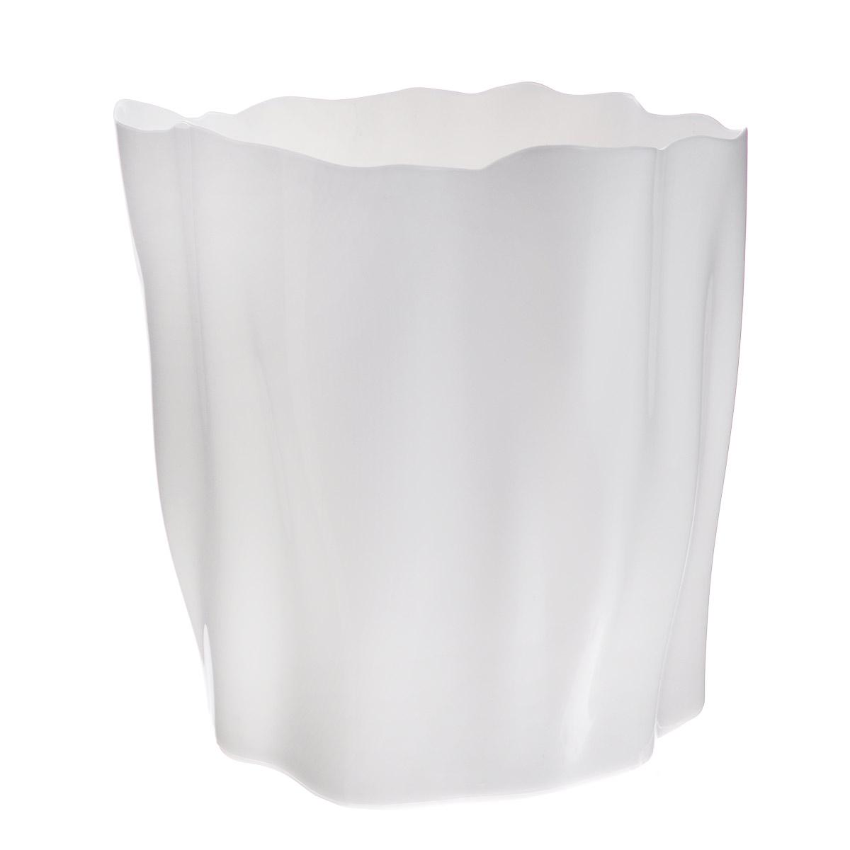"""Органайзер Qualy Flow, большой, цвет: белый, диаметр 27 смQL10141-WHОрганайзер Qualy """"Flow"""" может пригодиться на кухне, в ванной, в гостиной, на даче, на природе, в городе, в деревне. В него можно складывать фрукты, овощи, хлеб, кухонные приборы и аксессуары, всевозможные баночки, можно использовать органайзер как мусорную корзину, вазу. Все зависит от вашей фантазии и от хозяйственных потребностей! Пластиковый оригинальный органайзер пригодится везде! Диаметр: 27 см. Высота стенки: 28 см."""