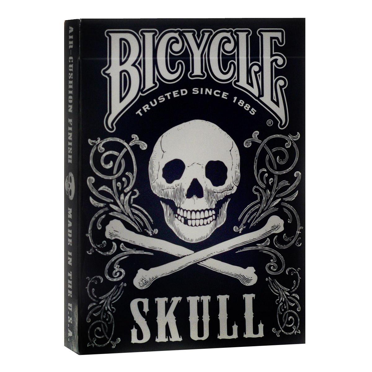 Карты игральные коллекционные Bicycle Skull, цвет: черный, белый, 54 карты. 91239123