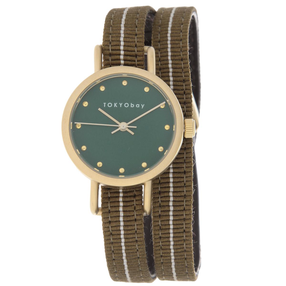 Часы женские наручные Tokyobay Obi, цвет: коричневый, зеленый. T233-BRT233-BRНаручные часы Tokyobay Obi - это стильное дополнение к вашему неповторимому образу. Эти часы созданы для современных девушек, ценящих стиль, качество и практичность. Часы оснащены японским кварцевым механизмом Miyota. Корпус круглой формы выполнен из сплава металлов, не содержащего никель. Задняя крышка изготовлена из нержавеющей стали. Циферблат оформлен металлическими отметками, имеет три стрелки - часовую, минутную и секундную. Циферблат защищен ударопрочным оптическим пластиком. Ремешок выполнен из натуральной кожи и плотного текстиля, застегивается на классическую застежку. Часы Tokyobay - это практичный и модный аксессуар, который подчеркнет ваш безупречный вкус. Характеристики: Корпус: 2,2 х 2,2 х 0,7 см. Размер ремешка: 37 х 0,8 см. Не содержит никель. Не водостойкие.