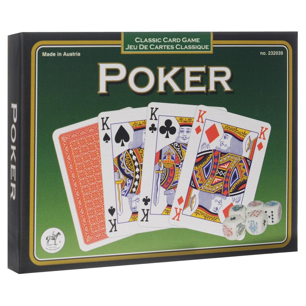 Набор для покера Классик-Покер: 55 листов, 5 костей2320