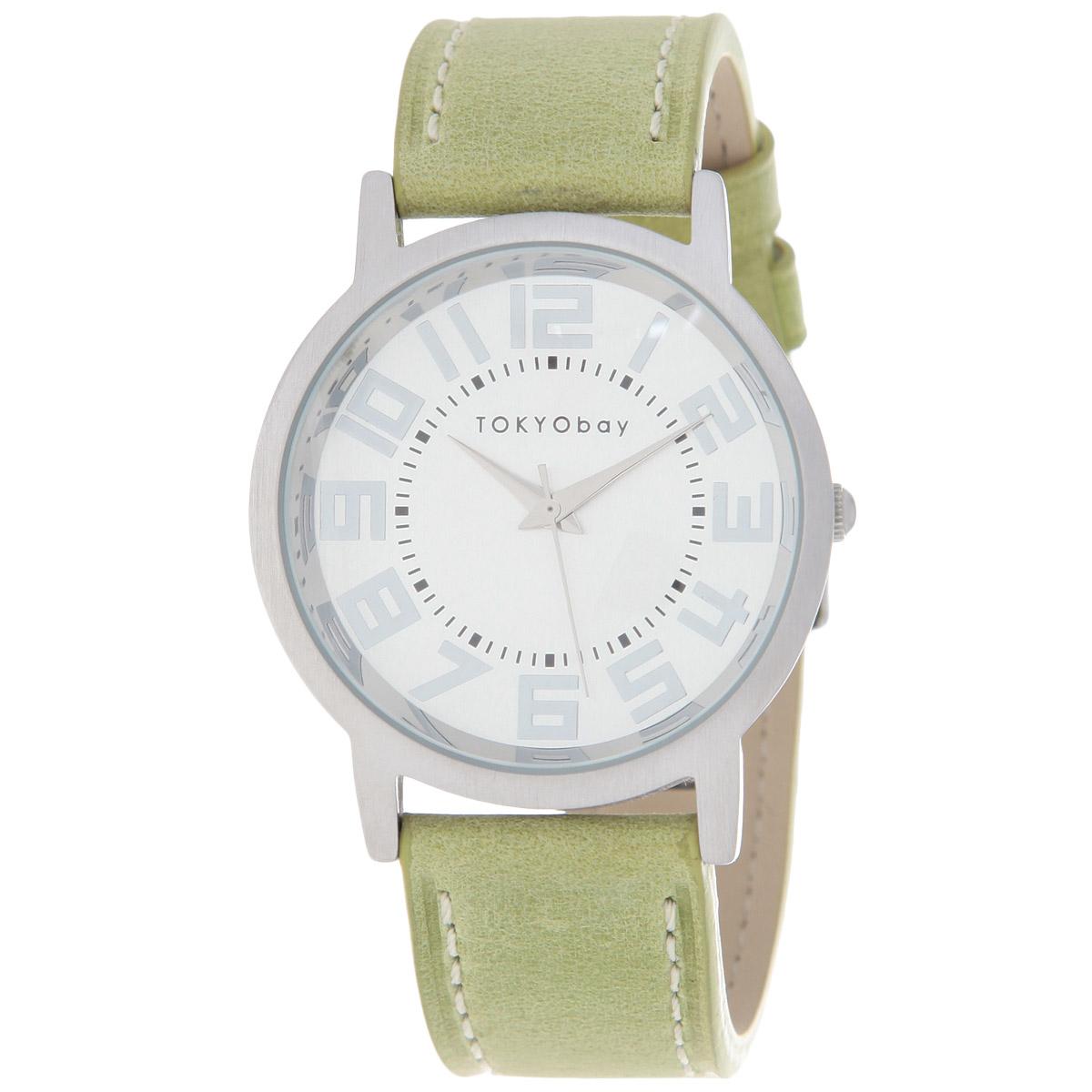 Часы женские наручные Tokyobay Platform, цвет: зеленый. T135-GRT135-GRНаручные часы Tokyobay - это стильное дополнение к вашему неповторимому образу. Эти часы созданы для современных женщин, ценящих стиль, качество и практичность. Часы оснащены японским кварцевым механизмом Miyota. Задняя крышка изготовлена из нержавеющей стали. Корпус изготовлен из металла. Циферблат оформлен крупными металлическими цифрами, имеются часовая, минутная и секундная стрелки. Ремешок выполнен из кожи, декорирован контрастной отстрочкой и застегивается на классическую застежку- пряжку. Часы Tokyobay - это практичный и модный аксессуар, который подчеркнет ваш безупречный вкус. Характеристики: Корпус: 3,8 х 3,8 х 0,8 см. Размер ремешка: 21 х 2,2 см. Не содержит никель. Не водостойкие.