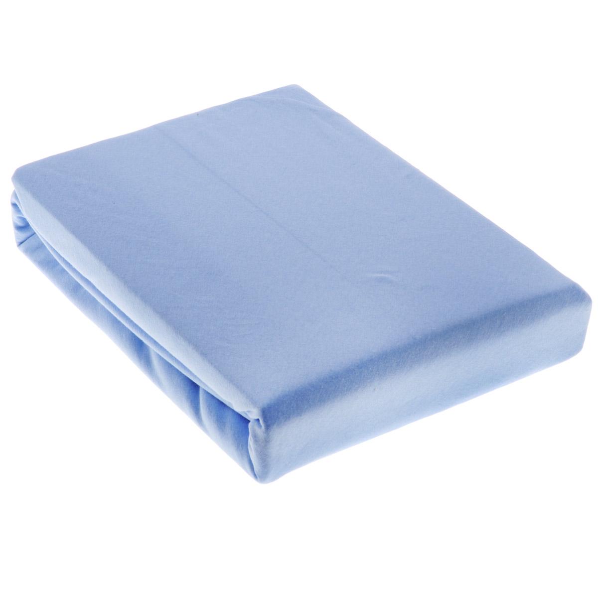 Простыня OL-Tex Джерси, на резинке, цвет: голубой, 180 х 200 х 20 смПтр-180Простыня OL-Tex Джерси изготовлена из гладкокрашеного трикотажного полотна, не имеет швов. По всему периметру простыня снабжена резинкой. Изделие легко одевается на матрасы высотой до 20 см. Идеально подходит в качестве наматрасника. Рекомендации по уходу: - Ручная и машинная стирка при температуре 30°С. - Гладить при средней температуре до 150°С. - Не отбеливать. - Можно сушить и отжимать в стиральной машине. - Химчистка запрещена.