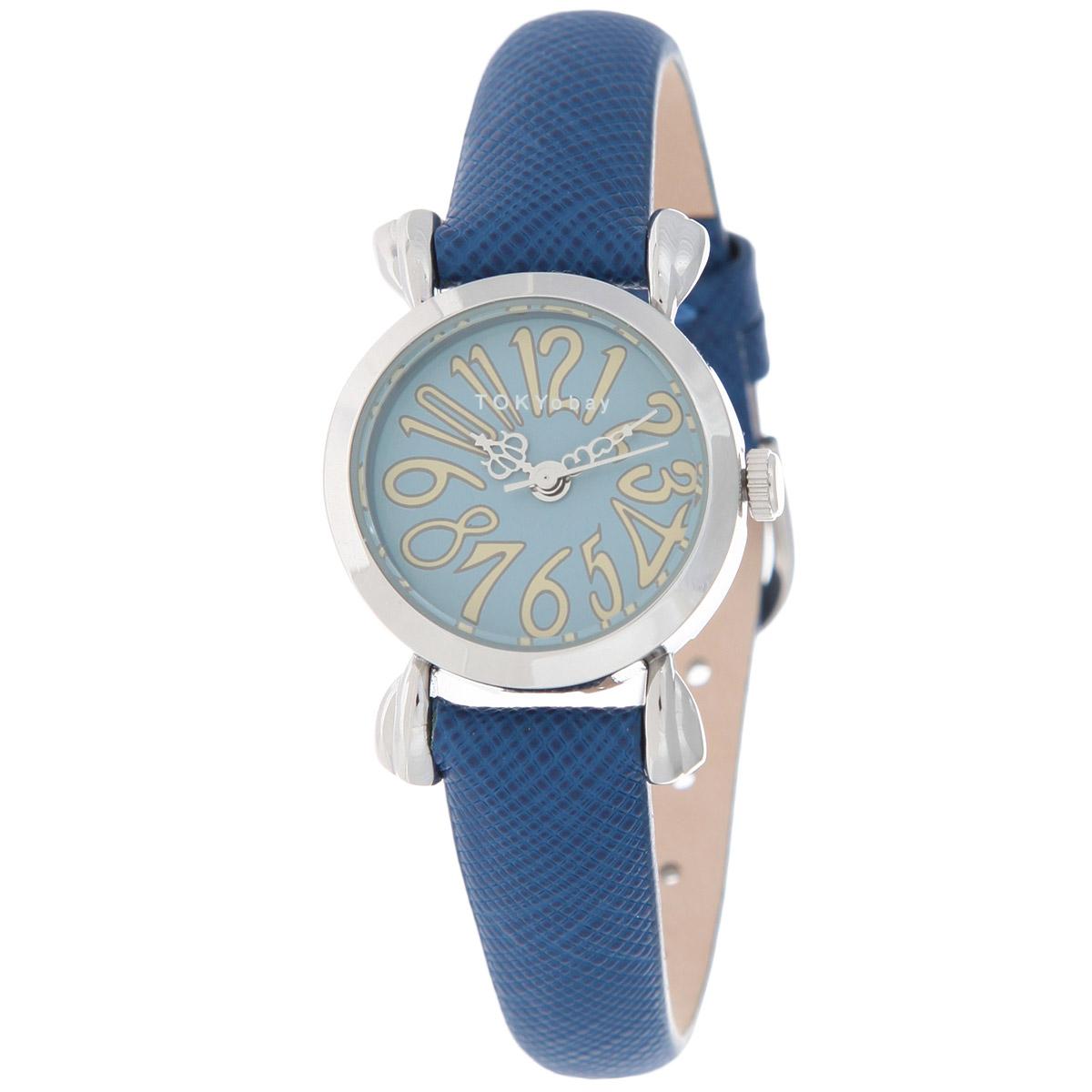 Часы женские наручные Tokyobay Opera, цвет: синий. T180-BLT180-BLНаручные часы Tokyobay - это стильное дополнение к вашему неповторимому образу. Эти часы созданы для современных женщин, ценящих стиль, качество и практичность. Часы оснащены японским кварцевым механизмом Miyota. Задняя крышка изготовлена из нержавеющей стали. Корпус изготовлен из металла. Циферблат оформлен крупными декоративными арабскими цифрами, имеются часовая, минутная и секундная стрелки. Ремешок выполнен из натуральной кожи, декорирован мелким тиснением, застегивается на классическую застежку-пряжку. Часы Tokyobay - это практичный и модный аксессуар, который подчеркнет ваш безупречный вкус. Характеристики: Корпус: 2,3 х 2,3 х 0,7 см. Размер ремешка: 17 х 1,1 см. Не содержит никель. Не водостойкие.