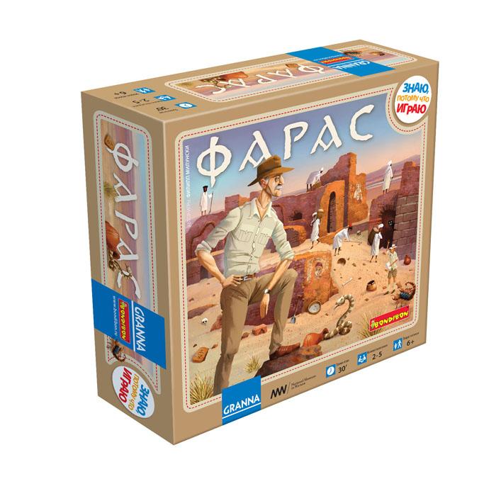 Настольная игра Bondibon ФарасВВ1269Хочешь попробовать себя в роли археолога, нашедшего уникальный христианский храм в суданской пустыне? Тогда новая настольная игра Bondibon Фарас - это то, что тебе нужно! Используя специальные карточки с четырьмя видами археологических находок, ты научишься сравнивать и запоминать изображенные на них предметы, а также выстраивать свою стратегию и значительно влиять на ход игры. Ты сможешь увидеть уникальные картины, керамическую посуду, декоративные украшения из камня и многое другое. Успеешь ли ты обнаружить все ценные находки прежде, чем будет построена дамба и вода затопит храм? В комплект входит: игровое поле, 30 карт, 65 мемо-карточек, инструкция. Время игры: 30 минут.