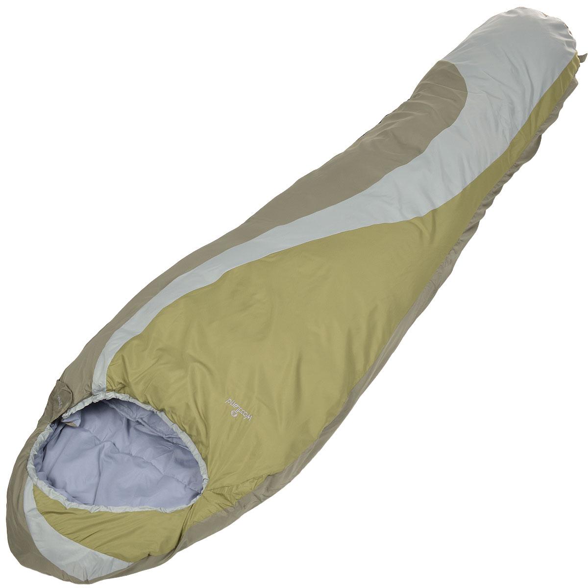 Спальный мешок-кокон WoodLand Peak 100, цвет: зеленый, оливковый, серый0030792Комфортный, просторный и очень теплый спальник-кокон WoodLand Peak 100 предназначен для походов и для отдыха на природе не только в летнее время, но и в прохладные дни весенне-осеннего периода. К несомненным достоинствам спальника можно отнести его повышенную комфортность. Теплый капюшон согреет вас в холодные ночи. Технологичный утеплитель хорошо сохраняет тепло и противостоит сжатию. Специальная структура волокна позволяет сохранять тепло даже во влажном состоянии. Форма - кокон, для лучшего распределения и удержания тепла. Внешний материал: 100% полиэстер. Внутренний материал: 100% полиэстер. Утеплитель: Hollow Fiber 100 г/м2.