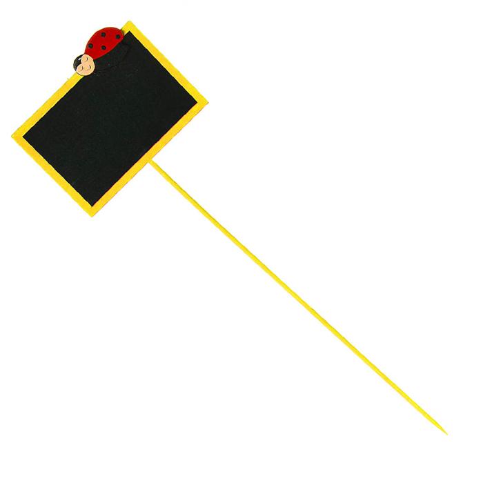 Табличка для маркирования Village People На заметку, декоративная, цвет: желтый, 8 см х 5 см68326_2Деревянная табличка для маркирования Village People На заметку позволит декоративно украсить предметы интерьера. На табличке можно указать название цветов, предметов, продуктов. Также такая табличка послужит оригинальным дополнением к какой-либо композиции. Размер таблички: 8 см х 5 см х 0,2 см. Длина ножки: 23 см.
