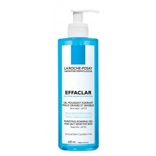 La Roche-Posay Очищающий гель для умывания Effaclar 400 млM0715101Пенящийся гель бережно очищает кожу от загрязнений и макияжа, очищает поры, удаляет избыток кожного сала, а также обладает антибактериальным действием благодаря содержанию Гликасила и Пидолата Цинка. Очищающий пенящийся гель EFFACLAR GEL создан на основе термальной воды La Roche-Posay. Предназначен для использования для жирной, чувствительной кожи. Переносимость средства доказана на коже, склонной к появлению угревых высыпаний*. Рекомендации по использованию: гель вспенить в ладонях с помощью небольшого количества воды и нанести на кожу массирующими движениями, избегая контура глаз. Тщательно смыть водой, затем нанести тонизирующее средство и основной уход.