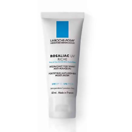 La Roche-Posay Увлажняющий крем для сухой кожи лица , склонной к покраснениям Rosaliac UV Риш 40млM1367200Эффективно защищает от ежедневного повреждающего действия UVA и UVB лучей на кровеносные сосуды. Повышает естественные защитные силы кожи, обладает успокаивающим действием, снижает реактивность кровеносных сосудов. Укрепляет стенки сосудов благодаря синтезу коллагена. Успокаивает, увлажняет кожу, улучшает микроциркуляцию, оказывает противоотечное действие. Устраняет сухость кожи, шелушение. Имеет легкий зеленоватый оттенок, который матирует покраснения. Имеет легкую нежирную текстуру, полностью впитывается. Прекрасная основа под макияж. Не содержит парфюмерных добавок.