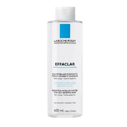 La Roche-Posay Мицеллярный очищающий раствор для снятия макияжа Effaclar 400 млM2862402Мицеллярный водный раствор мягко очищает, выравнивает кожу. Борется с образованием комедонов. Оказывает антибактериальное действие. Термальная вода La Roche-Posay (92%) устраняет раздражение, увлажняет кожу. Используется для очищения кожи лица и шеи без воды.