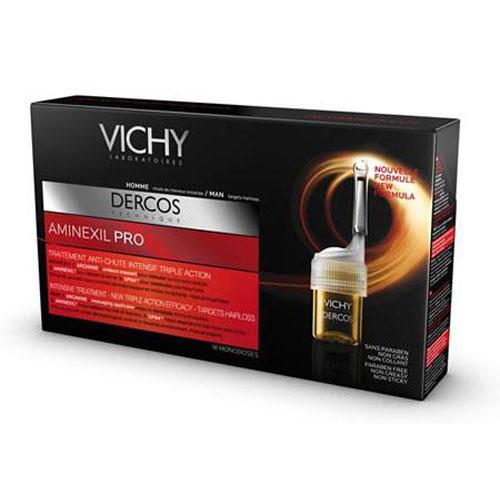 Vichy Интенсивное средство против выпадения волос для мужчин Dercos Aminexil Pro, 12 ампулM3796400В основе средства 3 компонента, выполняющие определенные функции: Аминексил укрепляет корни волос, SP94 трансформируется в липиды и углеводы, необходимые для роста волос, Аргинин стимулирует микроциркуляцию, обеспечивая волосы необходимыми питательными элементами. Аппликатор - массажер позволяет равномерно и экономично распределять средство по коже головы, одновременно массируя её, улучшая проникновение активных компонентов в волосяной фолликул. Также средство представлено и для женщин Новый аппликатор - массажер позволяет равномерно и экономично распределять средство по коже головы, одновременно массируя её, улучшая проникновение активных компонентов в волосяной фолликул. В результате применения выпадение волос замедляется, волосы более сильные, объем волос увеличивается, волосы менее ломкие и более густые.