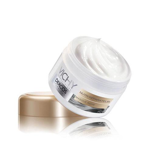 Vichy Маска для волос питательно-восстанавливающая Dercos, 200 млM4804300Глубоко проникает в волос для тройной эффективности: питает и восстанавливает структуру волос; разглаживает и обволакивает чешуйки кутикулы; придает исключительный блеск волосам.