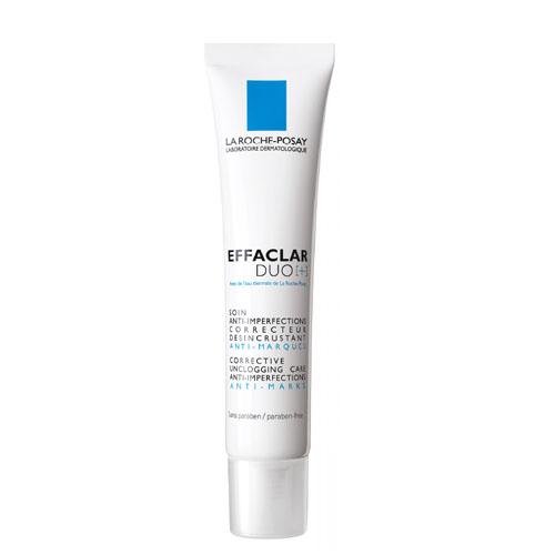 La Roche-Posay Корректирующий крем-гель для проблемной кожи лица  Effaclar ДУО[+] 40 млM6940500Обладает комплексным воздействием: сокращает выраженные несовершенства, а также корректирует и предотвращает появление следов постакне. Благодаря содержанию запатентованного компонента Эфаклар дуо [+] воздействует на процесс меланогенеза, препятствуя механизму поствоспалительной гиперпигментации. Противовоспалительное действие: оказывает противовоспалительное действие, уменьшая выраженность воспалительного элемента. Действие против пигментации:снижает активность меланоцитов, сокращая неконтролируемую продукцию меланина. Предотвращение следов постакне: Прокерад обеспечивает профилактику образования следов постакне, а Липо-Гидрокси-Кислота борется с существующими следами, разглаживая рельеф кожи.