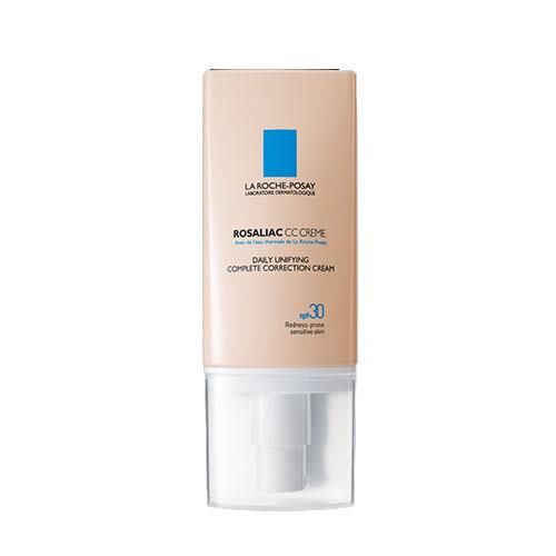 La Roche-Posay Комплексный дневной корректирующий крем Rosaliac СС 50 млM7771900Комплексный CC крем мгновенно маскирует и эффективно корректирует все виды покраснений. Оттенок универсален и быстро адаптируется под любой тон кожи от самого светлого до смуглого. Очень легко наноситься и равномерно распределяется по коже. Обеспечивает защиту от солнца SPF30.