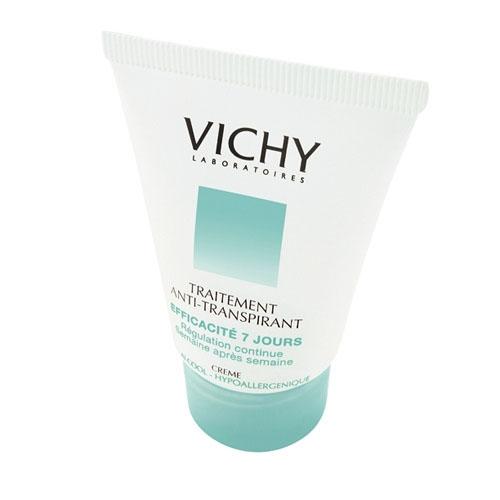 Vichy Дезодорант-крем 7 дней, регулирующий избыточное потоотделение, 30 млV030301Результат - уменьшение потоотделения и ощущение свежести кожи. Уровень потоотделения снижается и поддерживается на менее низком уровне. Гарантирует эффективность в течение 7-и дней при использовании 2 раза в неделю. Не содержит алкоголя.
