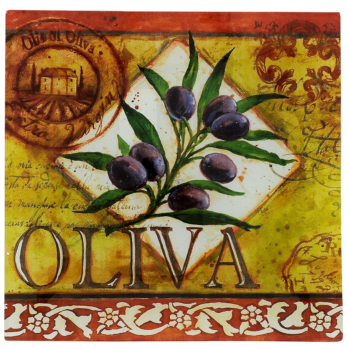 Блюдо Certified International Oliva, 35 см х 35 см40298Изящное квадратное блюдо Certified International Oliva выполнено из прочного стекла и оформлено изображением ветки оливы. Блюдо прекрасно подойдет для сервировки различных блюд. Такое блюдо прекрасно оформит праздничный стол и станет желанным подарком для любой хозяйки. Размер: 35 см х 35 см х 2 см.