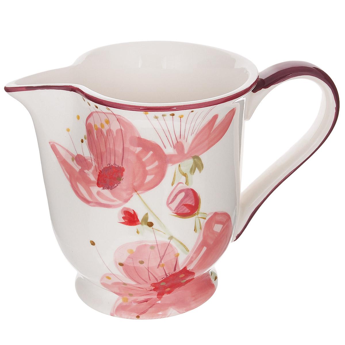 Кувшин Polnaya Chasha Вишня, 1 лВ62818АКувшин Polnaya Chasha Вишня изготовлен из высококачественной глазурованной керамики и оформлен красивым рисунком. Такой кувшин прекрасно подойдет для подачи молока, сока, воды и других напитков. Он ярко украсит ваш стол и станет практичным аксессуаром на вашей кухне. Коллекция Вишня - это очень модный и современный дизайн для использования каждый день на вашем столе. Каждый предмет данной коллекции эксклюзивно раскрашен вручную с помощью ярких устойчивых красок. Подходит для использования в микроволновых печах, а также для мытья в посудомоечных машинах.