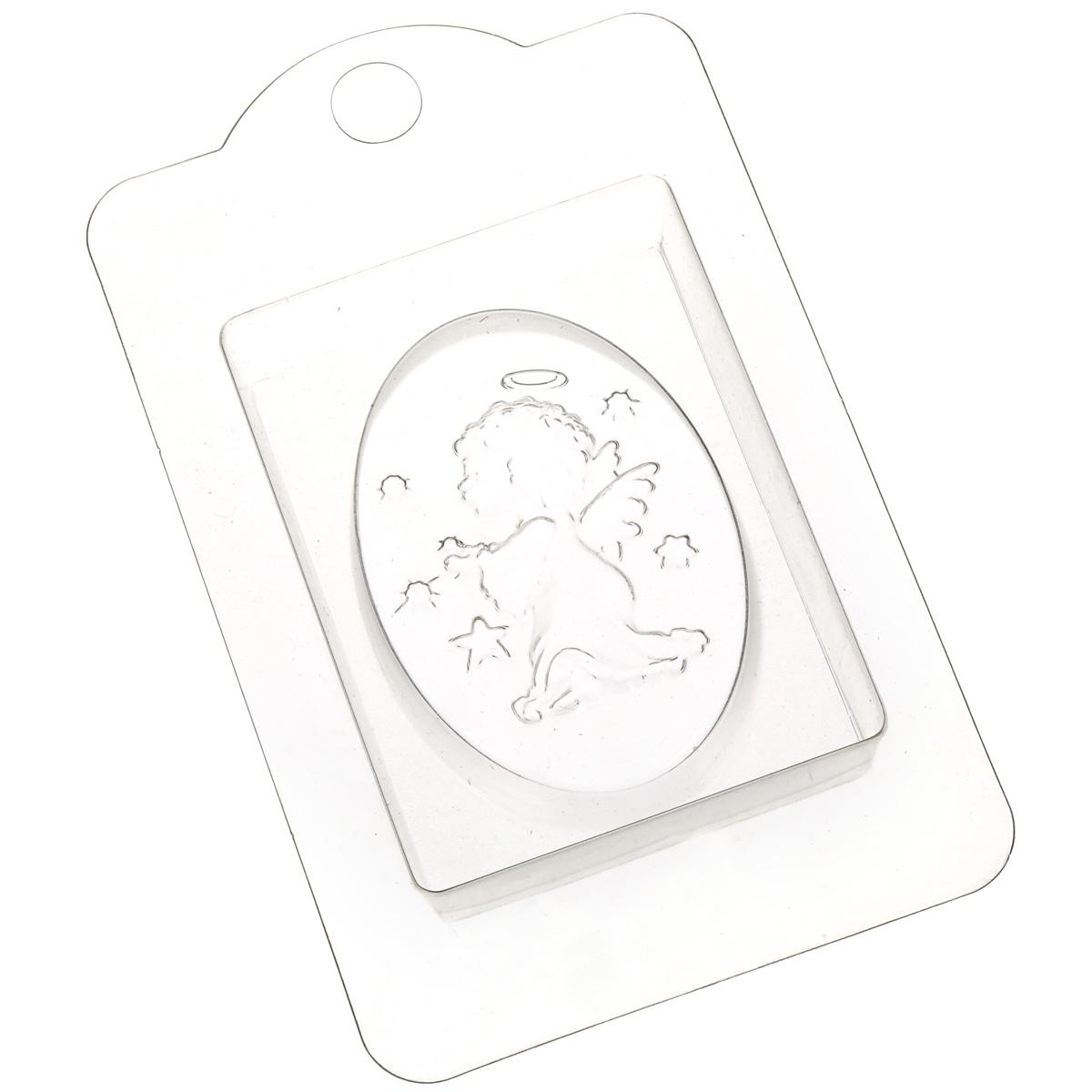 Форма пластиковая Кудрявый ангел, профессиональная, 19 см х 11,5 см х 3 см2700770021110Профессиональная пластиковая форма Кудрявый ангел позволяет изготовить оригинальное и красивое мыло ручной работы. Она выдерживает температуру до 67°С. Если вы всерьез увлеклись изготовлением мыла, такая форма вам просто необходима! Также изделие можно использовать при проведении мастер-классов, обучении детей и новичков мыловарению. По окончании работы у вас получится превосходное мыло с рельефным изображением ангелочка. Общий размер формы: 19 см х 11,5 см х 3 см. Размер формочки для мыла: 10 см х 7 см х 1,8 см.