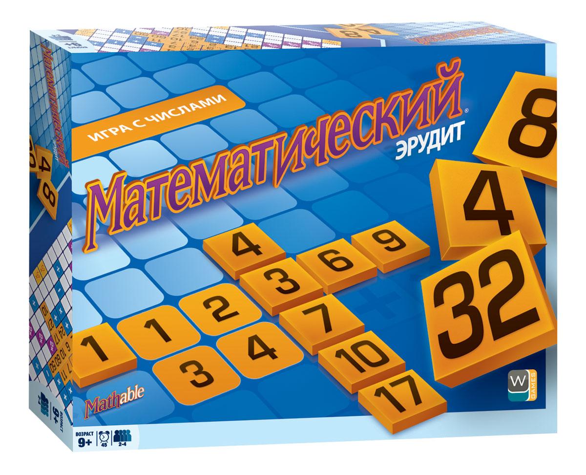 Настольная игра Математический эрудит5004Математический эрудит - это настольная игра, которая позволит научиться быстро считать. Она отлично подходит для веселого досуга в кругу семьи, а также может использоваться как обучающий материал. Кроме навыков быстрого счета, игра развивает стратегическое мышление, логику, умение планировать свои действия. Как играть В процессе игры участники должны создавать математические действия прямо на игровой доске. Математическое действие - сложение, вычитание, умножение или деление - производится с двумя соседними числами, при этом фишка с результатом также должна находиться рядом. Для игры используется игровая доска, на которой имеются квадраты разных цветов, а также 106 фишек с числами. Каждая фишка имеет ценность в очках, равную числу на фишке. Цвет квадрата игрового поля накладывает ограничения на фишки, которые вы планируете туда поставить. Игроки должны размещать фишки на доске таким образом, чтобы каждая вновь добавленная фишка составляла математическое...