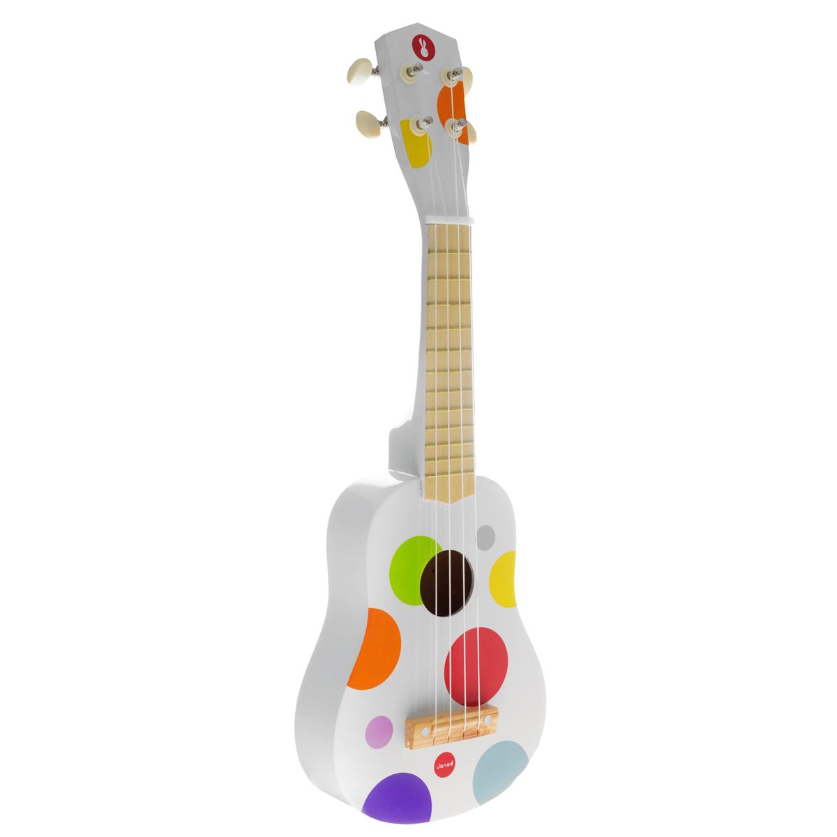 Гитара гавайская деревянная Janod, цвет: белыйJ07597