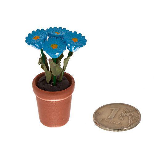 Растение в горшке голубые цветы. AM0101069AM0101069Растение в горшке голубые цветы