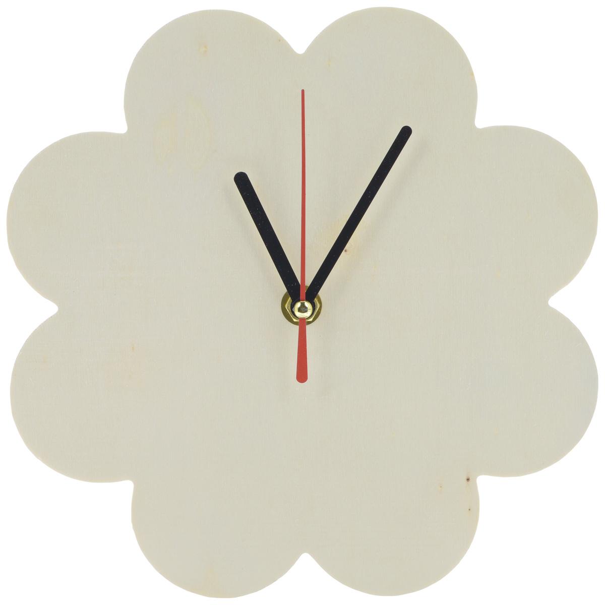 Заготовка для часов ScrapBerrys Ромашка, с часовым механизмом, диаметр 21 смSCB350153Оригинальная заготовка для часов ScrapBerrys Ромашка, выполненная из натурального дерева, предназначена для занятий декупажом. Заготовка имеет форму цветка и оснащена часовым механизмом. Декупаж - техника декорирования различных предметов, основанная на присоединении рисунка, картины или орнамента (обычного вырезанного) к предмету, и, далее, покрытии полученной композиции лаком ради эффектности, сохранности и долговечности. Часы работают от одной батарейки типа АА 1,5V (в комплект не входит).