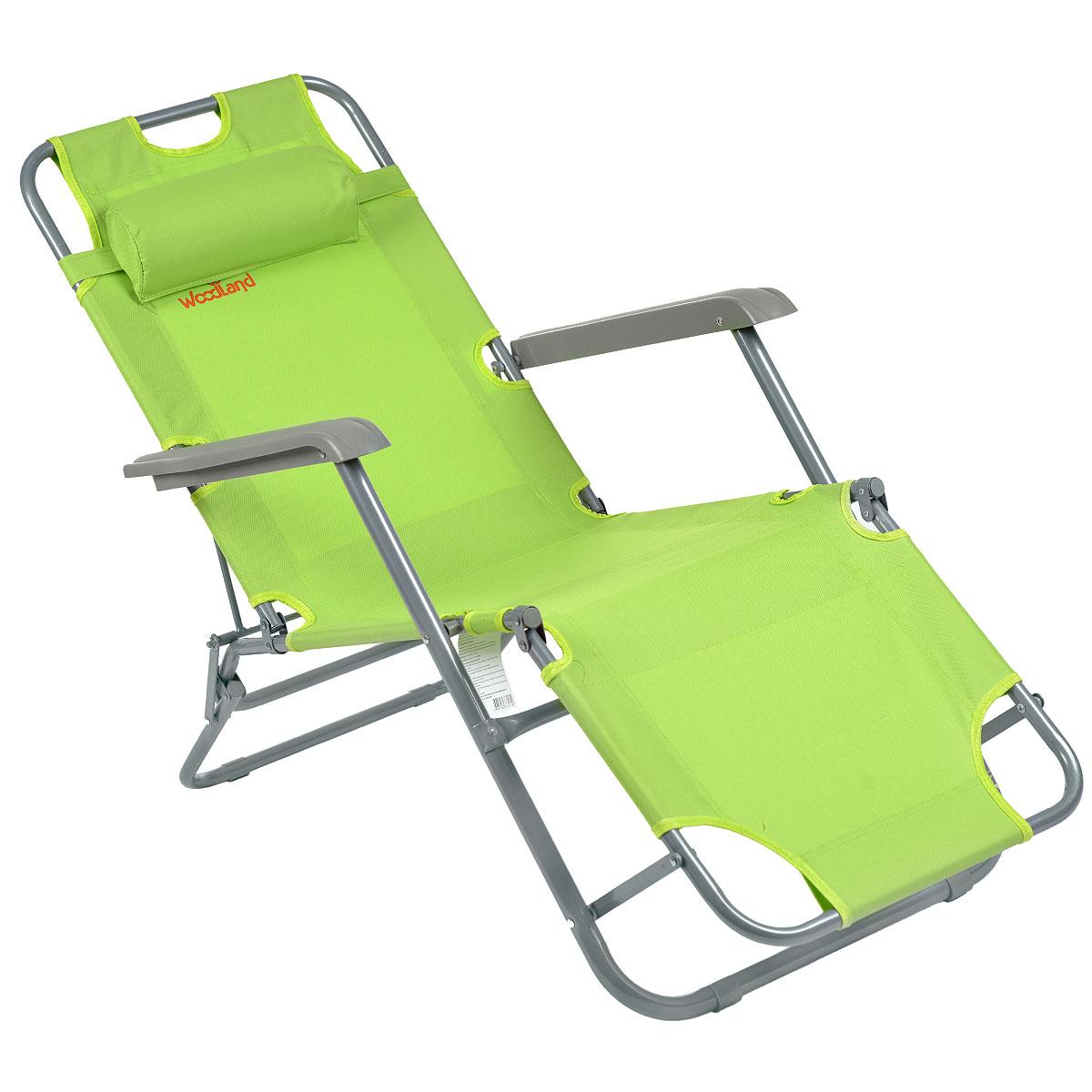 Кресло складное Woodland Lounger Oxford, цвет: зеленый, 153 см х 60 см х 79 см0049669Складное кресло Woodland Woodland Lounger Oxford предназначено для создания комфортных условий в туристических походах, охоте, рыбалке и кемпинге. Особенности: Компактная складная конструкция. Прочный стальной каркас с покрытием, диаметр 19 мм и 25 мм. Прочная ткань Oxford 600 обладает повышенной износостойкостью.