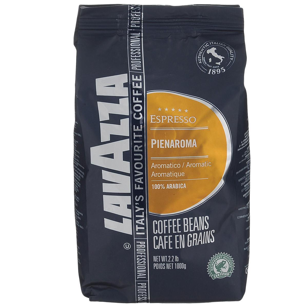 Lavazza Pienaroma кофе в зернах, 1 кг8000070023017Lavazza Pienaroma - это изысканная смесь 100% Арабики, которая имеет особенно яркий аромат и деликатный вкус.
