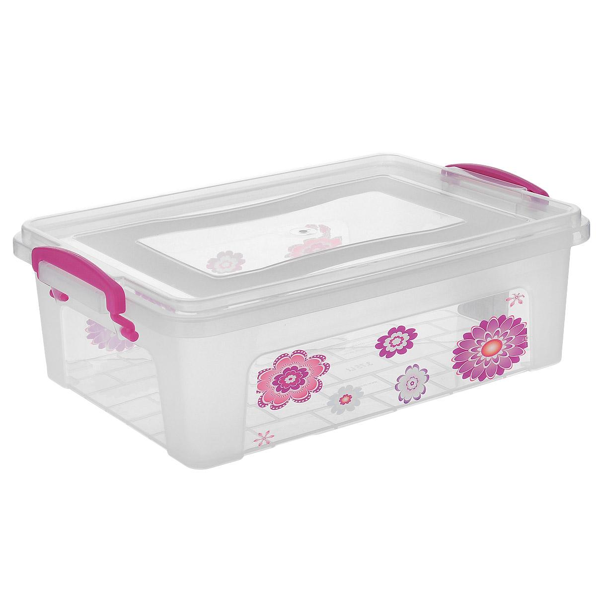 Контейнер Dunya Plastik Clear Box, цвет: прозрачный, розовый, 3,75 л. 3025330253Контейнер Dunya Plastik Clear Box выполнен из прочного пластика. Он предназначен для хранения различных мелких вещей. Крышка легко открывается и плотно закрывается. Прозрачные стенки позволяют видеть содержимое. По бокам предусмотрены две удобные ручки, с помощью которых контейнер закрывается. Контейнер поможет хранить все в одном месте, а также защитить вещи от пыли, грязи и влаги.