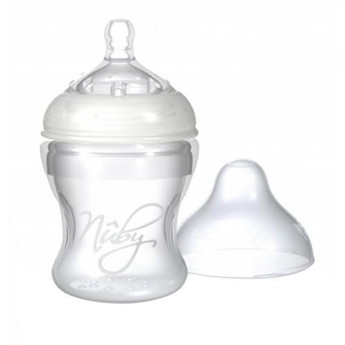 NUBY Бутылочка с антиколиковой системой, 150 мл. NT67016NT67016Вам приходится кормить малыша молочной смесью из бутылочки, и вы постоянно ищете такую бутылочку, которая была бы максимально удобна и для вас, и для вашего малыша? Попробуйте совершенно новую бутылочку со специальной антисиликоновой системой производства хорошо известной компании Nuby. Такая бутылочка идеальна для вашего крохи.