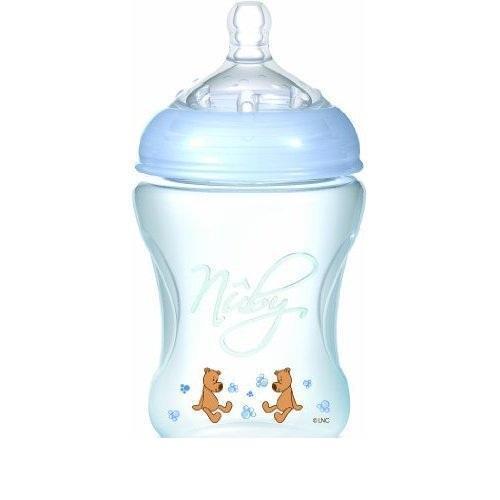 NUBY Бутылочка с антиколиковой системой, 240 мл, цвет: голубой. NT68007NT68007/голубойБутылочка Nuby объемом 240 мл для новорожденных малышей обладает антиколиковой системой, соской регулируемого потока с широким основанием, удобной эргономичной формой.