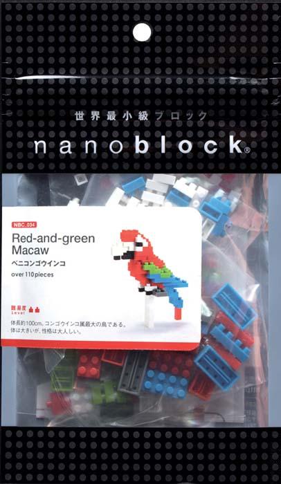 NanoBlock Мини-конструктор Зеленокрылый араNBC_034Мини-конструктор Зеленокрылый ара - увлекательнейший способ времяпрепровождения. Набор включает подставку, более 110 разноцветных пластиковых мини-элементов (в том числе запасные) и графическую инструкцию-схему сборки. Из деталей конструктора собирается очаровательный попугай-ара. Этот экзотический пернатый друг подарит радугу ярких красок своему владельцу! Конструктор nanoBlock - самый маленький в мире конструктор, крайне необычный, как все японское. Высокоточные трехмерные модели из деталей подобных Лего, но предельно уменьшенных в размерах, стали хитом в Японии и буквально произвели фурор в Америке, Европе, Азии и Австралии. Самая маленькая деталь конструктора - 4 мм х 4 мм, а классический прямоугольный элемент 2-на-4 точки имеет размер 8 мм х 16 мм и 5 мм высотой. Запатентованный дизайн деталей и высочайшее качество пластика обеспечивают надежное соединение даже при таких небольших размерах. Нано-размер деталей позволяет добиться невероятной...