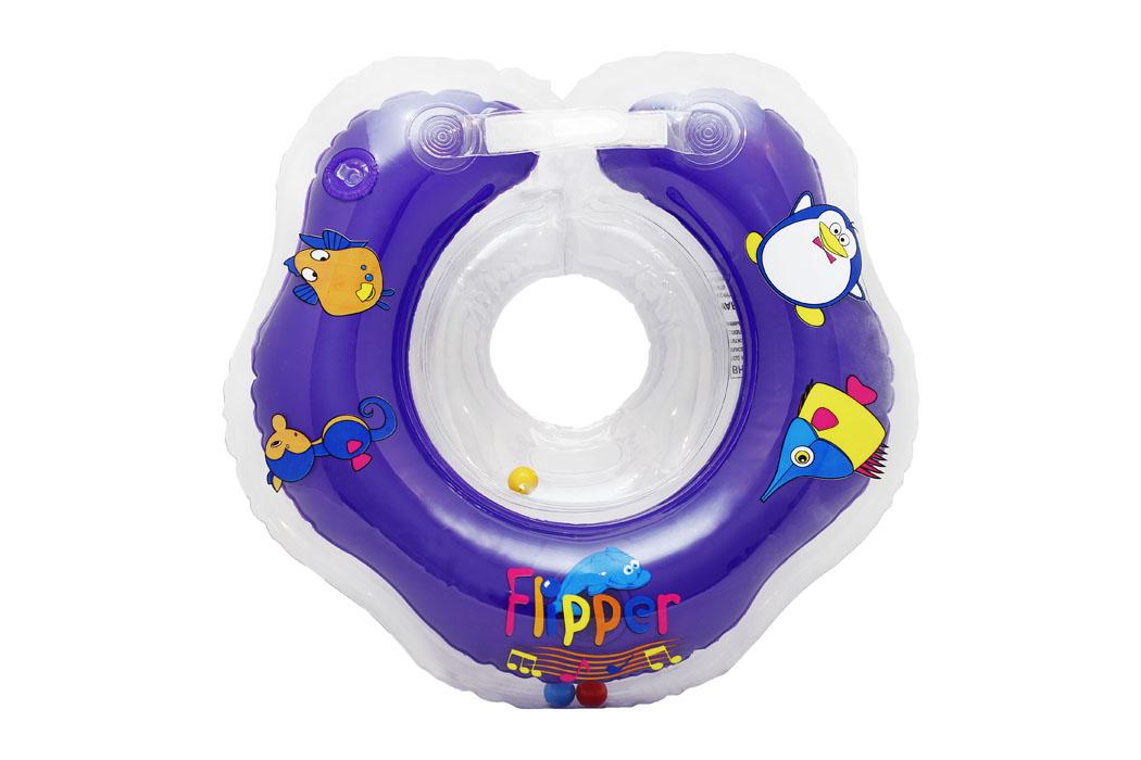 ROXY-KIDS Круг Музыкальный на шею для купания малышей с рождения Flipper