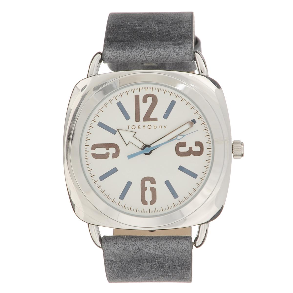 Часы унисекс наручные Tokyobay Strata Blue. T168-BLT168-BLНаручные часы Tokyobay - это стильное дополнение к вашему неповторимому образу. Эти часы созданы для современных мужчин и женщин, ценящих стиль, качество и практичность. Часы оснащены японским кварцевым механизмом Miyota. Задняя крышка изготовлена из нержавеющей стали. Корпус изготовлен из металла. Циферблат оформлен крупными арабскими цифрами и отметками, имеются часовая, минутная и секундная стрелки. Ремешок выполнен из кожи и застегивается на классическую застежку-пряжку. Часы Tokyobay - это практичный и модный аксессуар, который подчеркнет ваш безупречный вкус. Корпус: 3,9 х 3,9 х 0,8 см. Размер ремешка: 20 х 2,2 см. Не содержит никель. Не водостойкие.