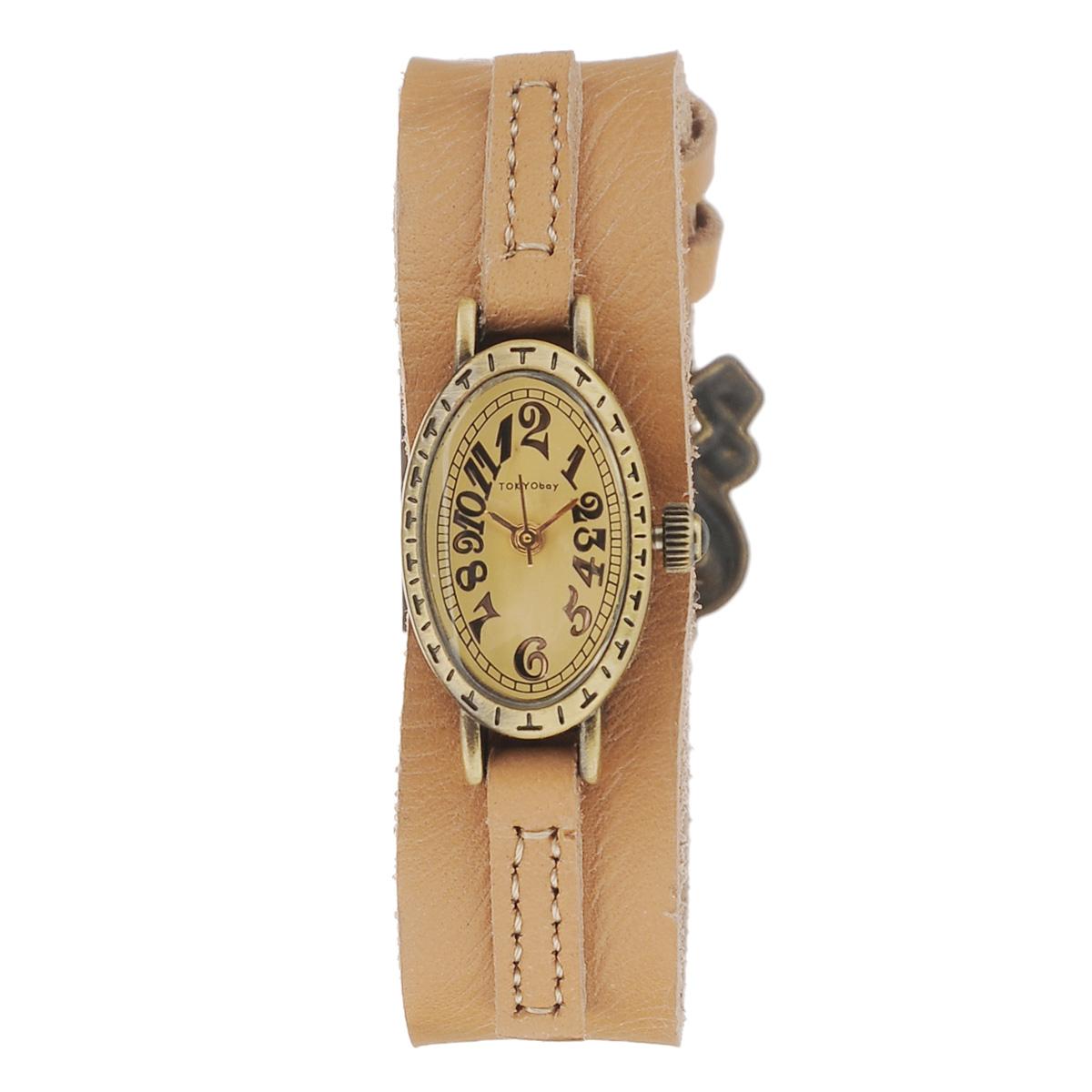 Часы женские наручные Tokyobay Tempo, цвет: светло-коричневый. T881-CAT881-CAНаручные часы Tokyobay - это стильное дополнение к вашему неповторимому образу. Эти часы созданы для современных женщин, ценящих стиль, качество и практичность. Часы оснащены японским кварцевым механизмом Miyota. Задняя крышка изготовлена из нержавеющей стали. Корпус изготовлен из металла, украшен тиснением. Циферблат оформлен декоративными цифрами, имеются часовая, минутная и секундная стрелки. Ремешок выполнен из кожи и застегивается на классическую застежку-пряжку. Часы Tokyobay - это практичный и модный аксессуар, который подчеркнет ваш безупречный вкус. Характеристики: Корпус: 2,5 х 1,6 х 0,7 см. Размер ремешка: 19 х 1,8 см. Не содержит никель. Не водостойкие.