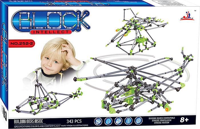 Intellect Block Конструктор Вертолет252-2Конструктор Intellect Block позволит вашему ребенку весело и с пользой провести время. Набор включает в себя 343 пластиковых элемента, с помощью которых можно собрать множество подвижных конструкций. Ребенок может воспользоваться примерами из буклета или проявить фантазию, создав собственный шедевр. Некоторые элементы конструктора при нажатии на кнопку светятся красным светом, что добавляет той или иной модели реалистичности. Особые моторчики способны оживить некоторые конструкции. Также в набор входит схематичная инструкция по сборке моделей. Конструктор Intellect Block поможет ребенку развить мелкую моторику рук, координацию движений и усидчивость. Характеристики: Размер упаковки (ДхШхВ): 50 см x 32 см x 7 см.