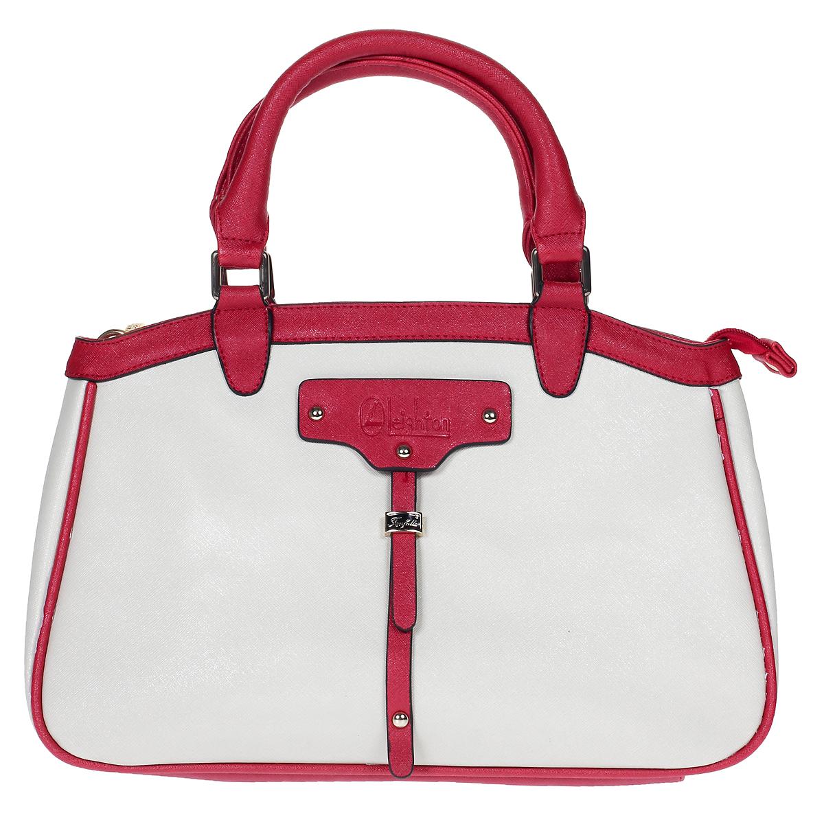 Сумка женская Leighton, цвет: молочный, красный. 580241-3769 ( 580241-3769/23/3769/16 бе )