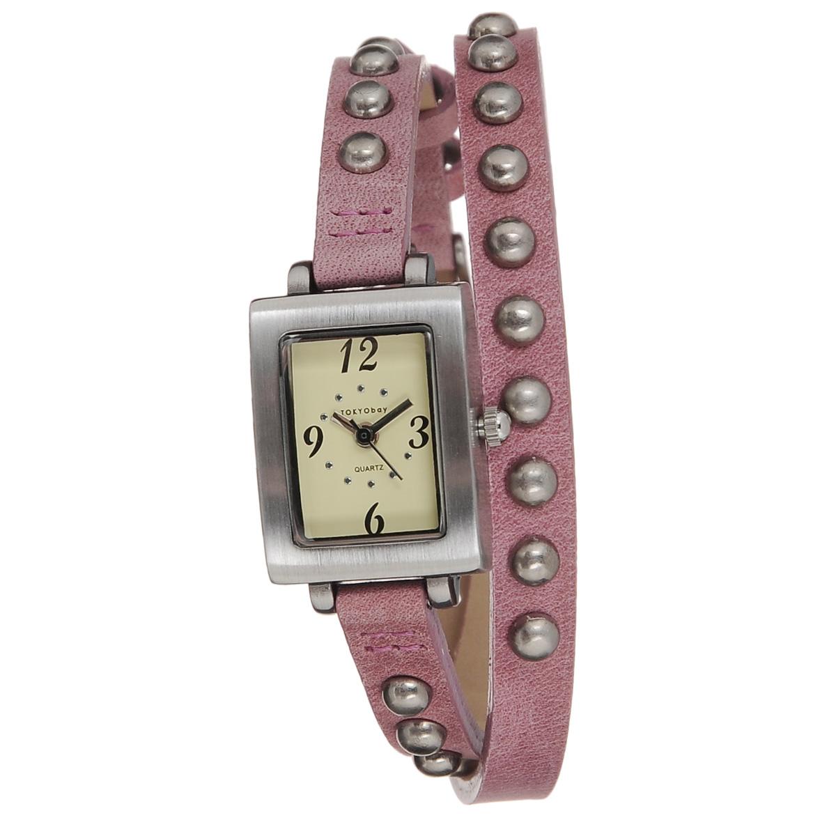 Часы женские наручные Tokyobay Armor Pink, цвет: розовый, стальной. TL753-PKTL753-PKНаручные часы Tokyobay Armor - это стильное дополнение к вашему неповторимому образу. Эти часы созданы для современных девушек, ценящих стиль, качество и практичность. Часы оснащены японским кварцевым механизмом Miyota. Корпус выполнен из сплава металлов с сатиновой полировкой, не содержащего никель. Задняя крышка изготовлена из нержавеющей стали. Циферблат оформлен арабскими цифрами и отметками, имеет три стрелки - часовую, минутную и секундную. Циферблат защищен минеральным стеклом. Ремешок, выполненный из натуральной кожи, обхватывает запястье в два оборота, украшен металлическими заклепками. Застегивается на классическую застежку. Часы Tokyobay - это практичный и модный аксессуар, который подчеркнет ваш безупречный вкус.