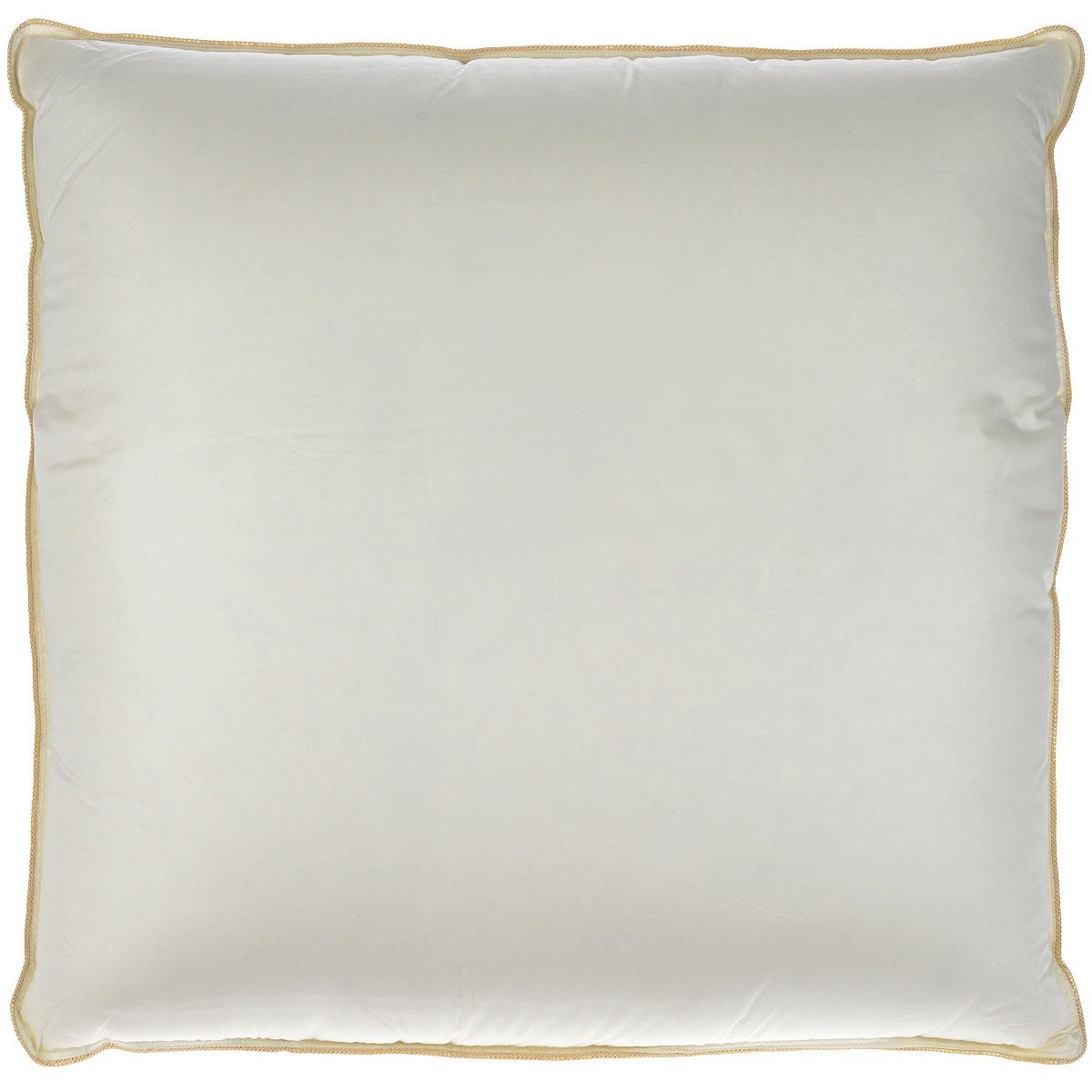 Подушка Mona Liza Elite, наполнитель: гусиный пух, цвет: бежевый, 70 х 70 см