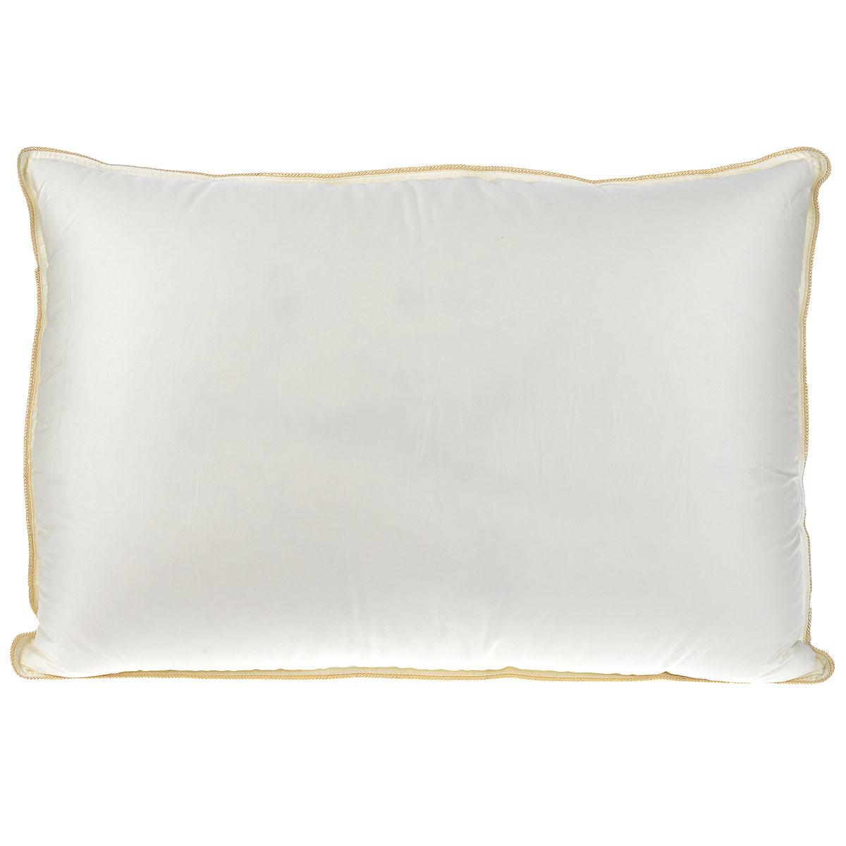 Подушка Mona Liza Elite, наполнитель: гусиный пух, цвет: бежевый, 50 х 70 см