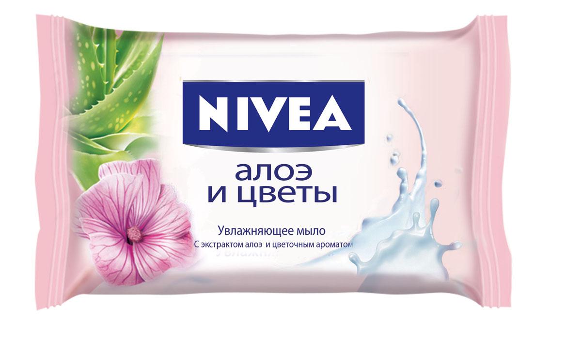 Nivea Мыло Алоэ и цветы, увлажняющее, 90 г1002439Мыло Алоэ и цветы от NIVEA содержит увлажняющий экстракт алоэ вера, нежно очищает и смягчает кожу, оставляя приятный цветочный аромат. Товар сертифицирован.