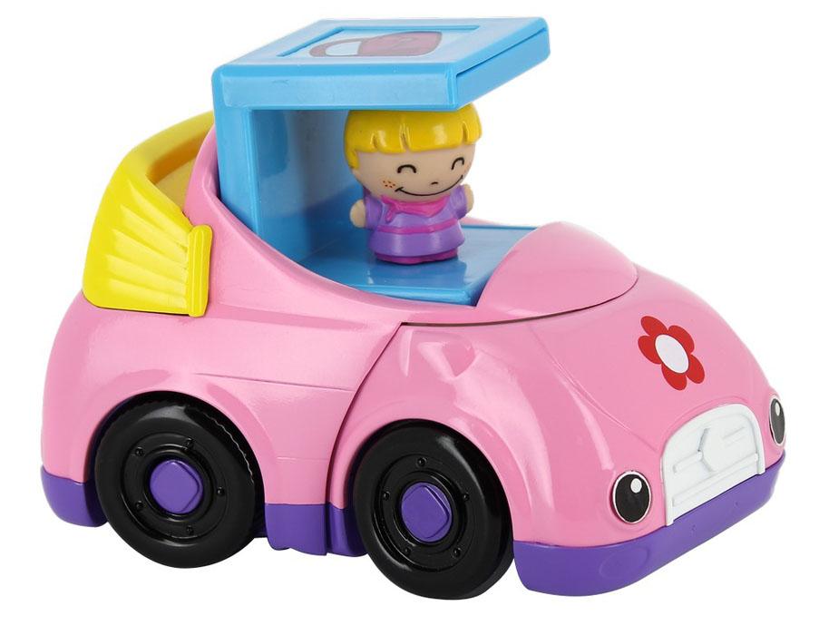 Kidz Delight Развивающая игрушка Машинка для девочек цвет розовыйТ55442Развивающая игрушка Kidz Delight Машинка для девочек, выполненная из пластика, станет любимой игрушкой вашей малышки. За рулем находится фигурка девчушки. При нажатии на крышу кабины звучит веселая мелодия, и машинка начинает прокладывать себе путь вперед. Музыкальная машинка Kidz Delight поможет малышке развить цветовое и звуковое восприятия, мелкую моторику рук и тактильные ощущения. Рекомендуется докупить 2 батарейки напряжением 1,5V типа ААА (товар комплектуется демонстрационными). Рекомендуемый возраст: от 1 до 3 лет.