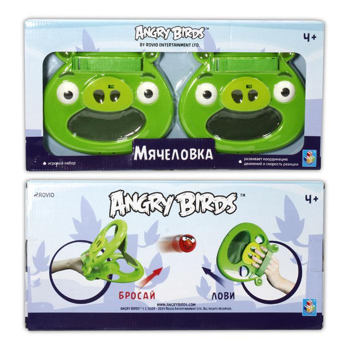Мячеловка-свинья Angry Birds, 20см, 2шт, 4 мяча