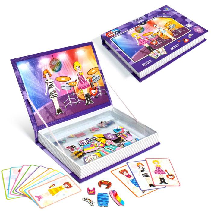 1TOY Настольная игра МагБук мозаика с магнитами Диско